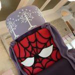 Hidden tier wedding cake - Spiderman