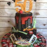 Las Vegas & New York Birthday Cake