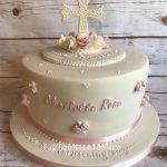 Rose Christening Cake