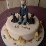 Man and his dogs birthday cake