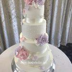 Pastel rose wedding cake