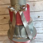 Raspberry and Silver Wedding Cake