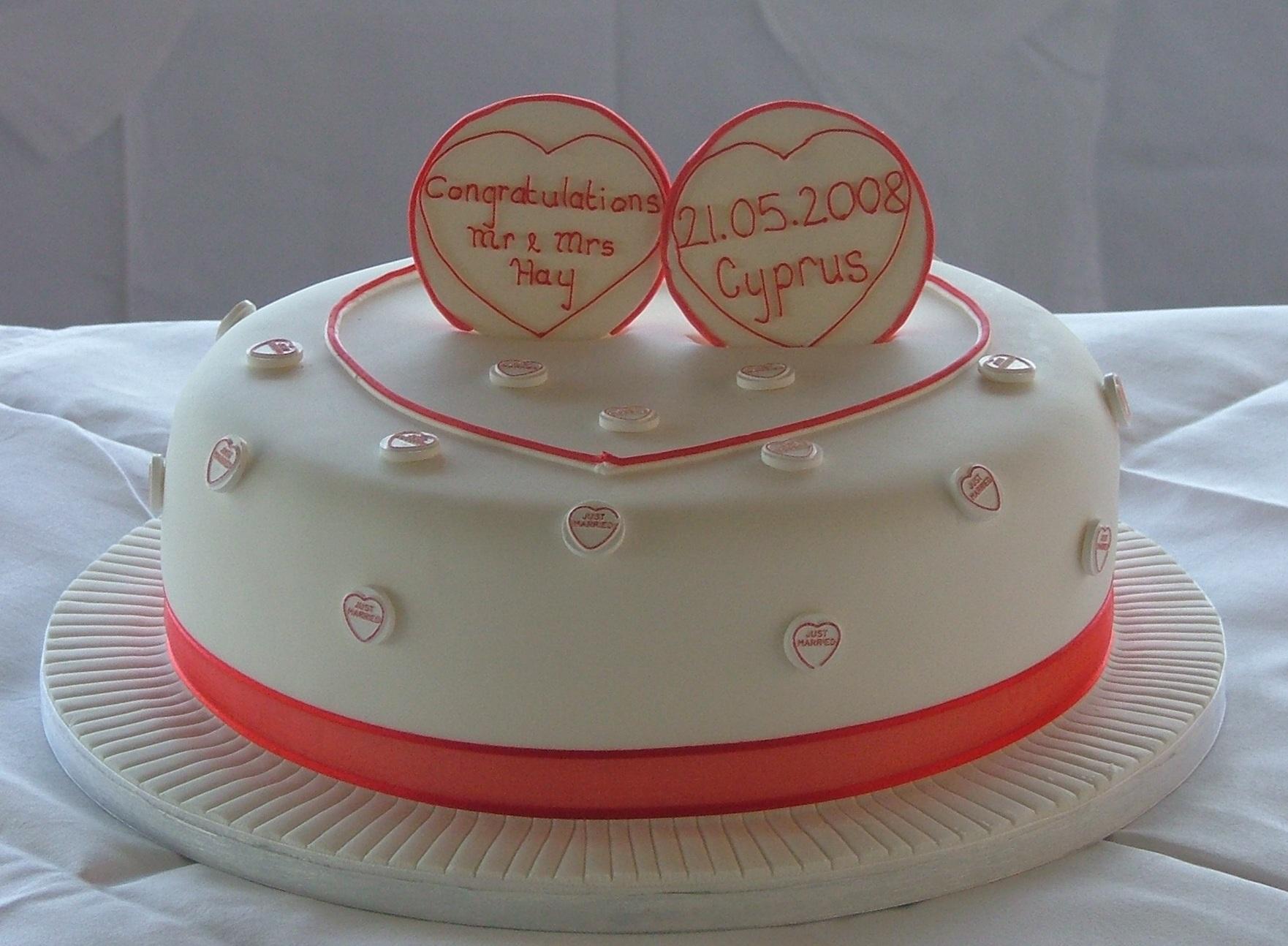 Cake Making Classes Lancashire : Single Tier Wedding Cakes - Too Nice to Slice
