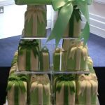 Square tiered cake stand hire £20 security £75