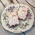 Baby Shower Stork Cookie