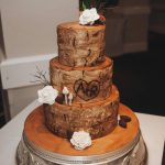Tree Bark Wedding Cake