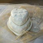 Two tier Hearts, ivory on ivory