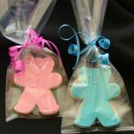 Gift Wrapped Baby Shower or Christening Cookies Teddy Bear Pink or Blue